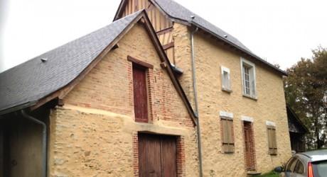 Restauration maison campagne Ampoigné